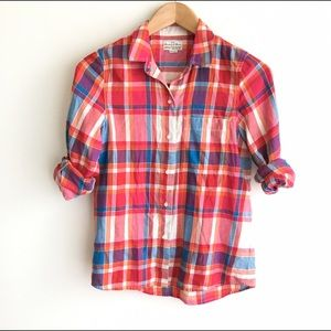 Madewell Broadway & Broome Plaid Button Up Shirt