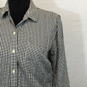 Gap Gingham Black & White Button Front Shirt M