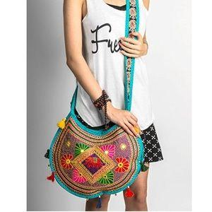 boho gypsy handmade embroidered new crossbody bag