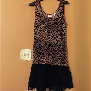 Dresses & Skirts - Chico's ruffled lace and animal print dress