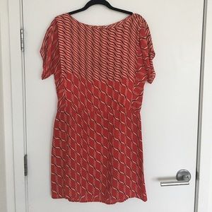 Vintage red pattern dress
