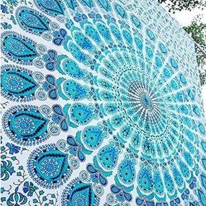 turquoise boho gypsy tapestry beach blanket new