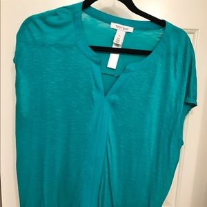 Teal colored boxy tee