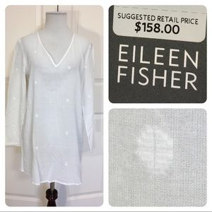 NWT! Eileen Fisher white long sleeve tunic