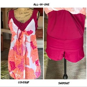 Other - All in one Swimsuit/Cover-Up US Size L 14 NEW🎉