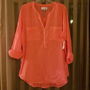 NWT - Old Navy Crinkle Tunic Top