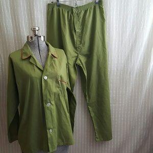 Vintage Green Pajama Set