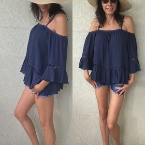 Tops - Last 1 Large! Navy Blouse