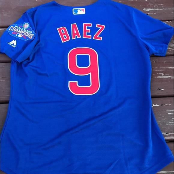 best authentic 14834 bfa67 Women's Chicago Cubs Javier Baez jersey (Medium) NWT