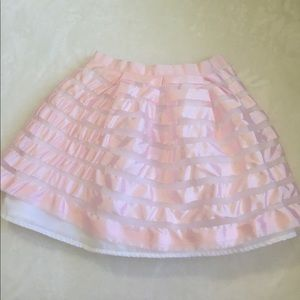 janie and jack girls striped pink skirt size 10