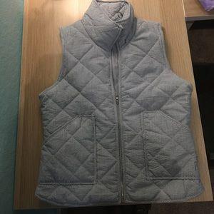 Jackets & Blazers - Navy seersucker vest