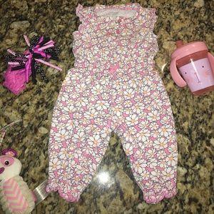Other - Pink floral jumpsuit