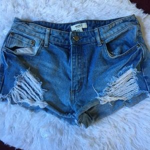 🏷Distressed High Waisted Shorts