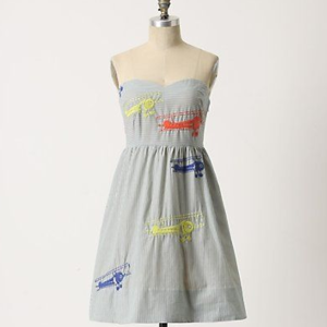 {anthropologie} wright dress airplanes dress