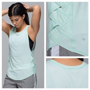 Lululemon Var-City Muscle Tank Heathered Sea Mist