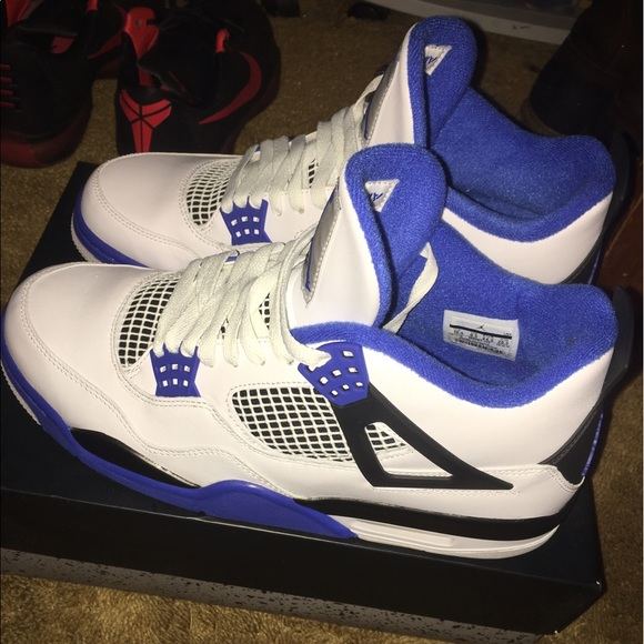 91bda1f69f4f Air Jordan 4 Motorsport white blue retro 5 6 7 8 9