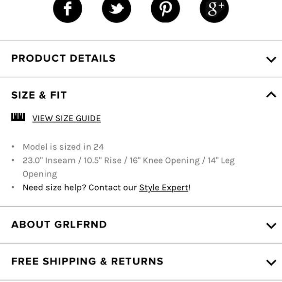 GRLFRND Jeans - ❤️SOLD❤️Grlfrnd Helena jeans (petite)