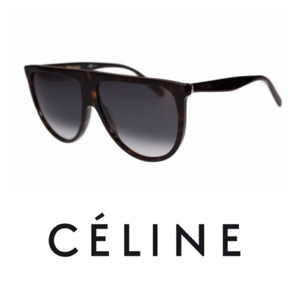 edfd2707a75a New Celine Thin Shadow Sunglasses Black Tortoise