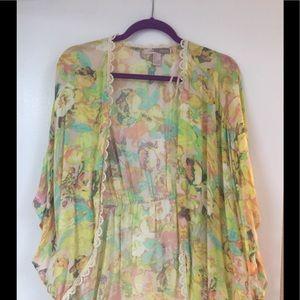 F21 Boho floral kimono