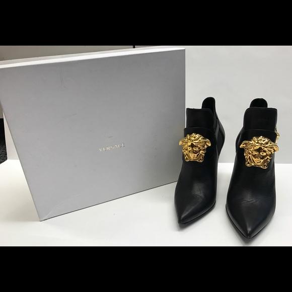 42fb3c0f Versace Medusa Head Palazzo Black Bootie/Ankle