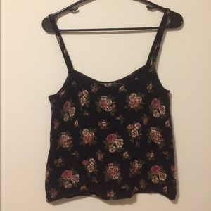 Tops - Floral Sweater Cami Top