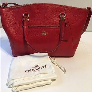 {Coach} Red Crossbody Satchel Bag