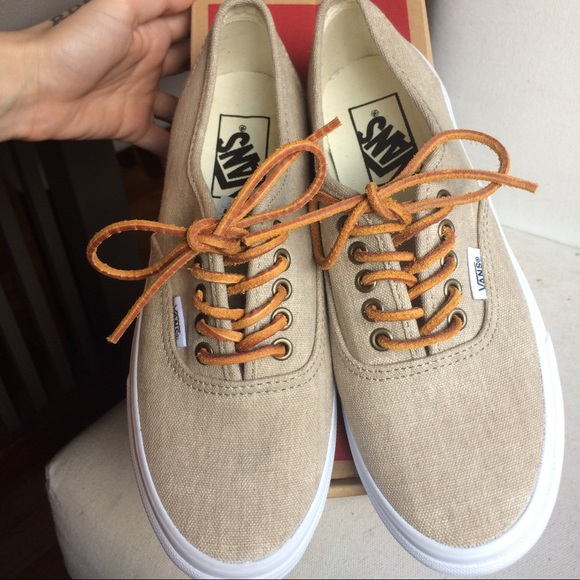 Vans Authentic low top Leather laces d9bd3df7bab3