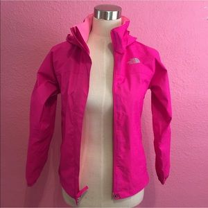 Pink North Face rain jacket. Kids