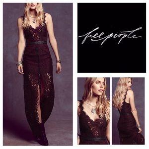 🆕Free People Lace Column Maxi Dress.  NWOT.