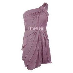 Adrianna Papell Purple Tiered Chiffon Dress 🍍