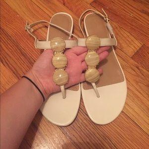 NEVER WORN White Banana Republic Sandals