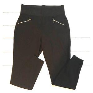 Forever 21+ Stretchy Knit Zipper Pocket Pants