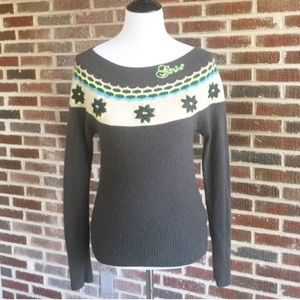 UO GSUS Charcoal Scoop neck sweater in EUC