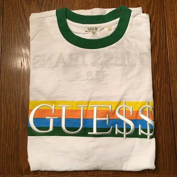 55379552fc10 Guess Shirts | X Asap Tshirt Ringer Green Mxl | Poshmark