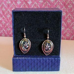 Jewelry - Copper & black earrings