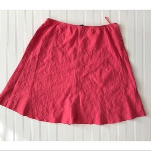 Eileen Fisher salmon coral 100% Linen skirt large