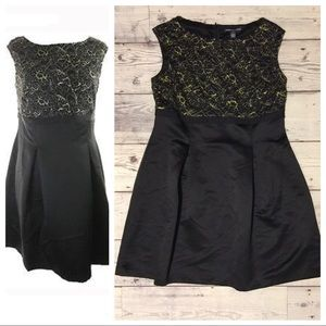 American Living Black Lace‑and‑satin Dress 🍍