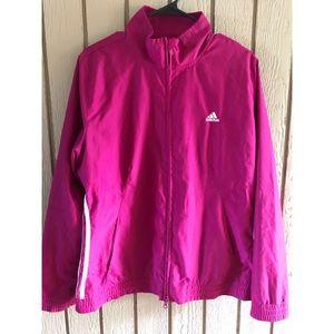 Adidas pink track jacket XL