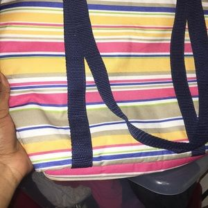 Handbags - Striped tote bag
