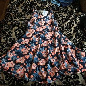Vs Pink Floral Dress