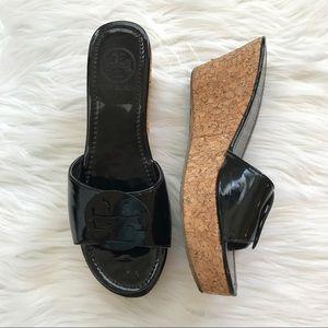 Tory Burch vintage platform cork sandals