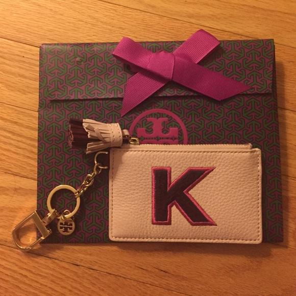 wholesale dealer a307f 9bf4f Tory Burch Bags | K Monogram Card Case Key Fob | Poshmark