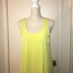 Dresses & Skirts - High Low Lime Yellow Summer Dress Small