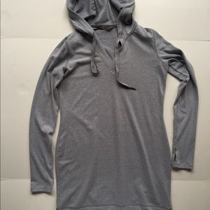 705b3dd10bf2 Athleta Dresses - Athleta Gray Bliss Hoodie Dress