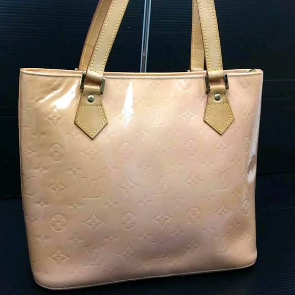 Louis Vuitton Handbags -  SALE  AUTH LOUIS VUITTON PINK VERNIS HOUSTON TOTE e3a1ab69a1ba4