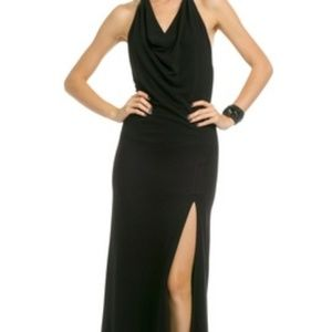Yigal Azrouël Halter Backless Black Gown Size 6.