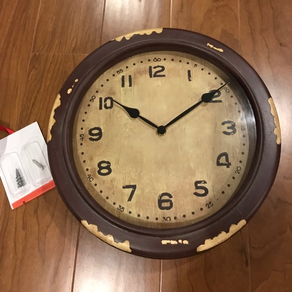 Pottery Barn Other New School House Clock New In Box