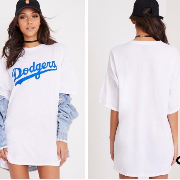 5710797b Missguided Dresses   Dodgers T Shirt Dress   Poshmark