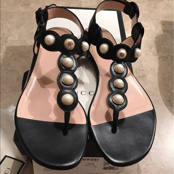 3a3c23cf622 Gucci pearl sandals AUTHENTIC! Wore look new!! M 596d86006802783417009908