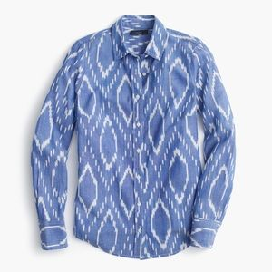 J. Crew Perfect Shirt in Sunfaded Ikat